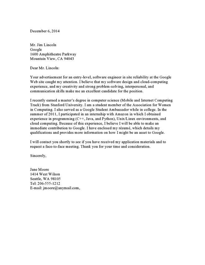 Email Marketing Cover Letter Marketing Cover Letter Example - entry level marketing cover letter