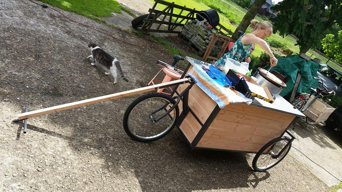 Crepeverkaufanhanger Furs Fahrrad Fahrrad