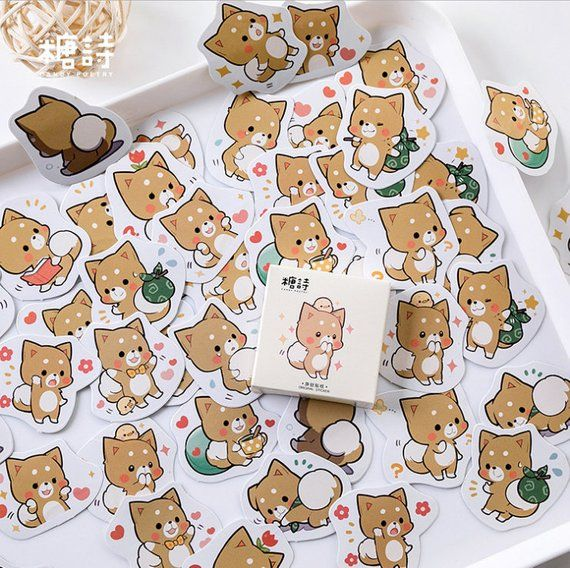 Cherry Blossom PVC Sticker Japanese Style Cat Rabbit Animals Flowers Cat Rabbit