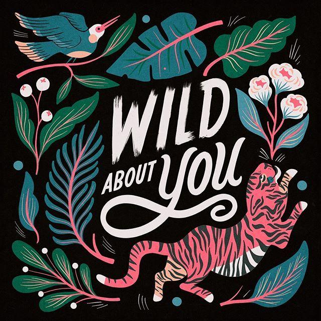 Hand lettering Wild about you quote Illustration art by Carmi Grau #homedecor #artprints #illustrationinspo #illustrationart #artoftheday #wallart #painting #drawings #qotd #lettering #Regram via @Bq5S44VHbyU