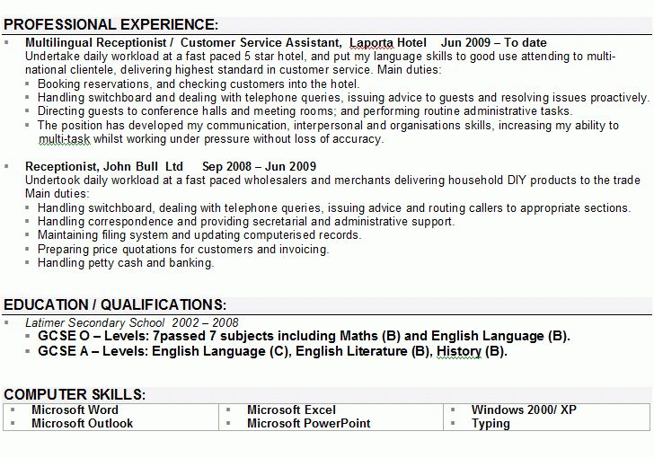personal profile resume examples personal profile statement on a - Writing A Personal Profile