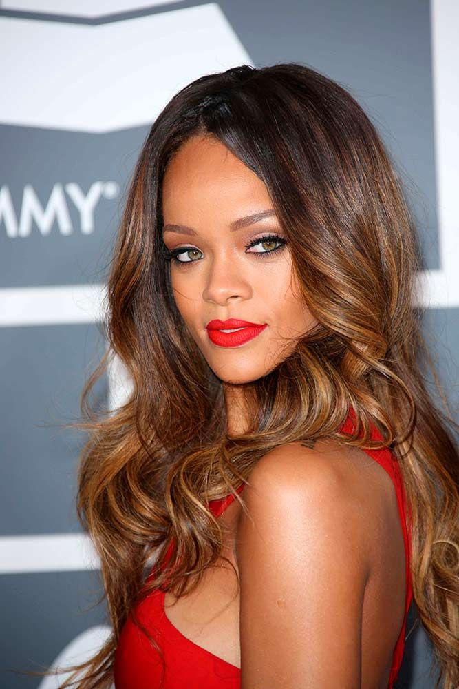 Sweet Locks With Honey Brown Highlights #curlyhairstyles #rihanna ★ Light and dark brown hair with highlights and lowlights looks spectacular. Discover trendy color ideas for short and long hairstyles. #glaminati #lifestyle