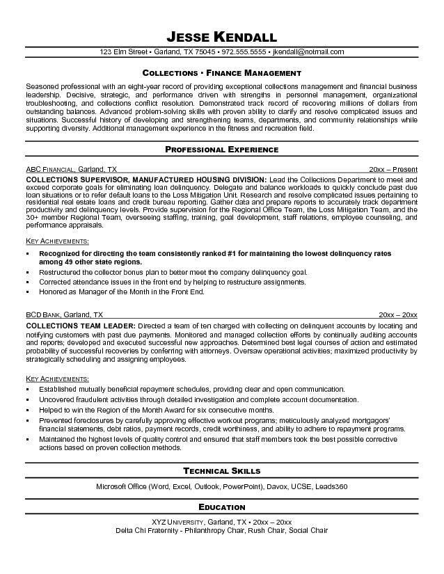 ... Collections Manager Resume Manager Resume, Manager Resume   Debt  Collection Manager Cover Letter ...