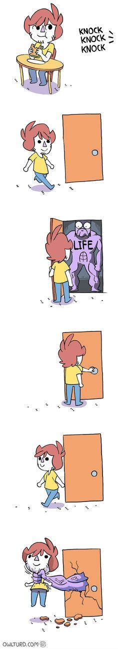 When life knocks... [comic]
