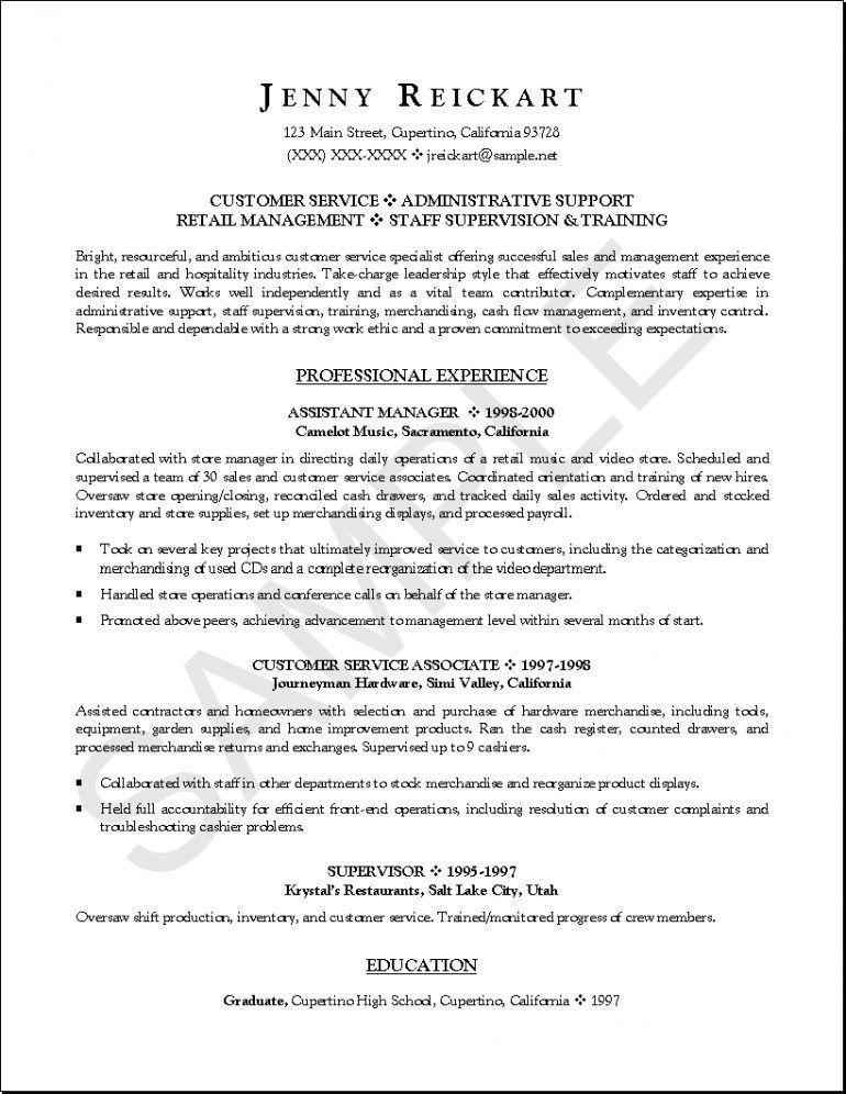 Beginner resume sample - beginner resume template