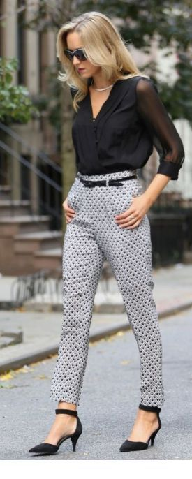 Very nice printed pants for office day