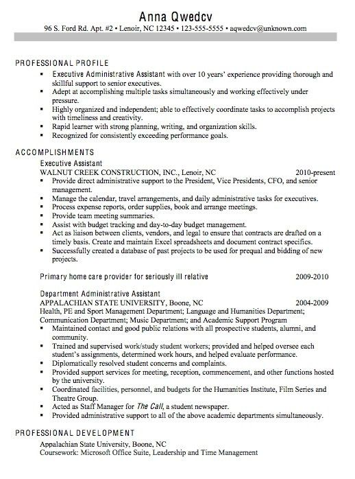 Resume Objective Examples Administrative Assistant Sample Admin - office assistant sample resume
