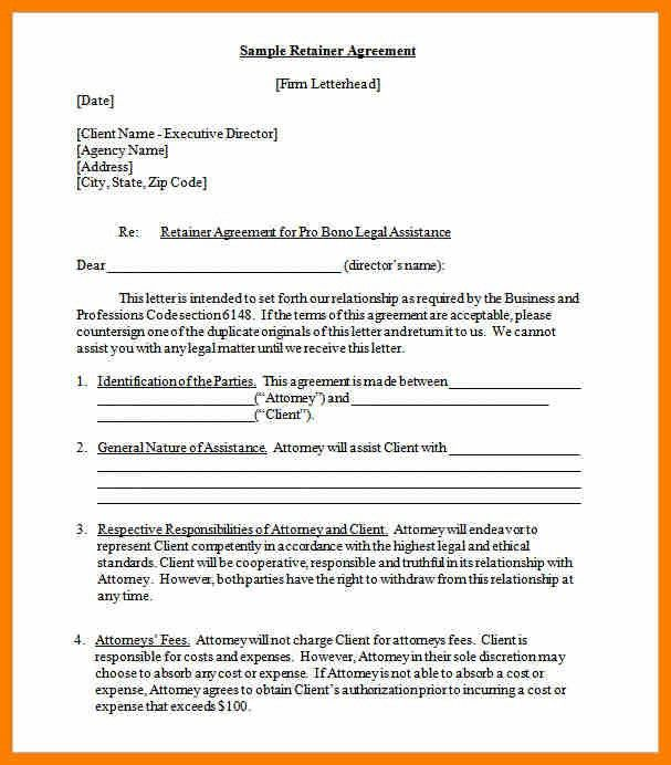 Sample Retainer Agreement consulting service agreement retainer - sample executive agreement