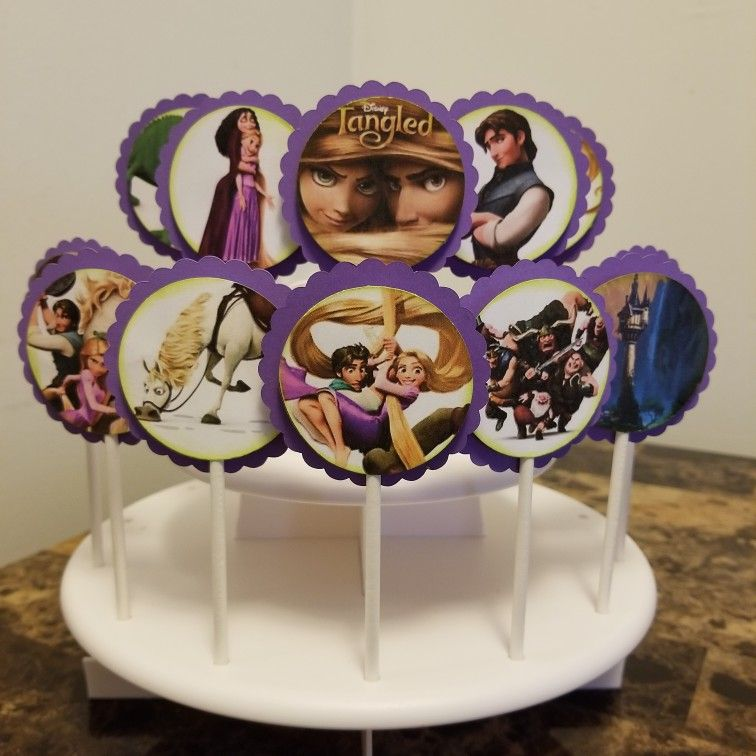 Tangled cupcake toppers Mariascakesnmore | Tangled ...