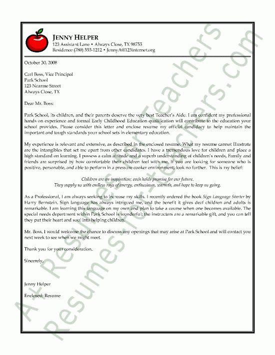 Sample Cover Letters For Teaching Teacher Cover Letter Example - how to write a cover letter for teaching
