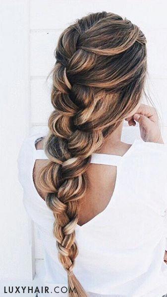 dutch braid with highlights #braidedhairstyles