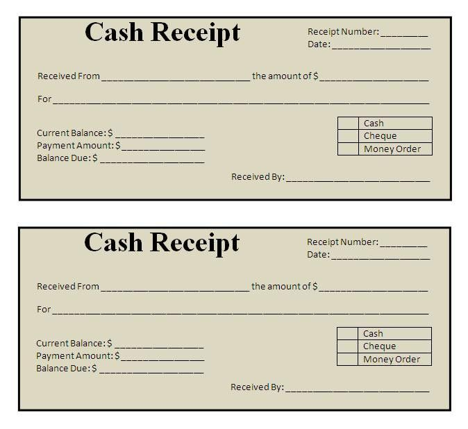 Sample Receipt Template Free Receipt Template Rent Receipt And - cash invoice template