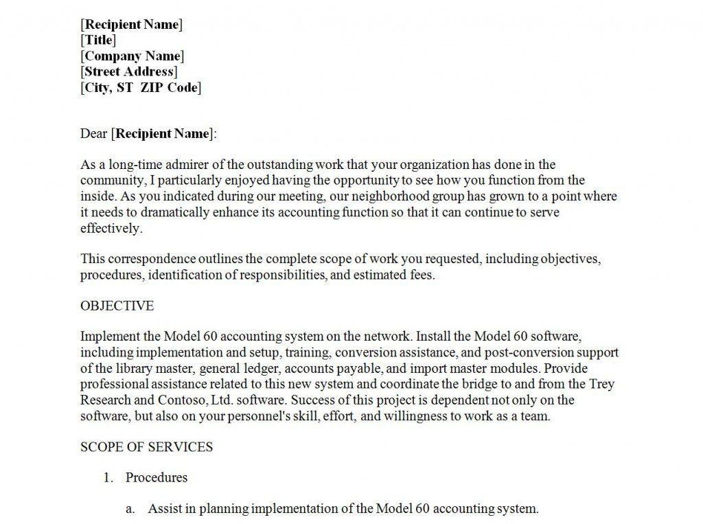 accounting proposal templates