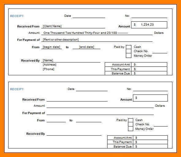 27 Free Receipt Templates for Microsoft Word  lifewirecom