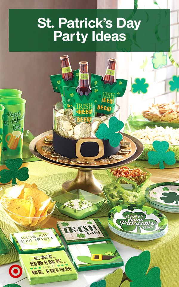 Throw the luckiest party for St. Patrick's day with shamrock decor, food & drink ideas.
