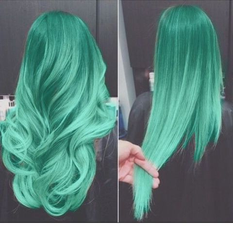 Mint mermaid hair color