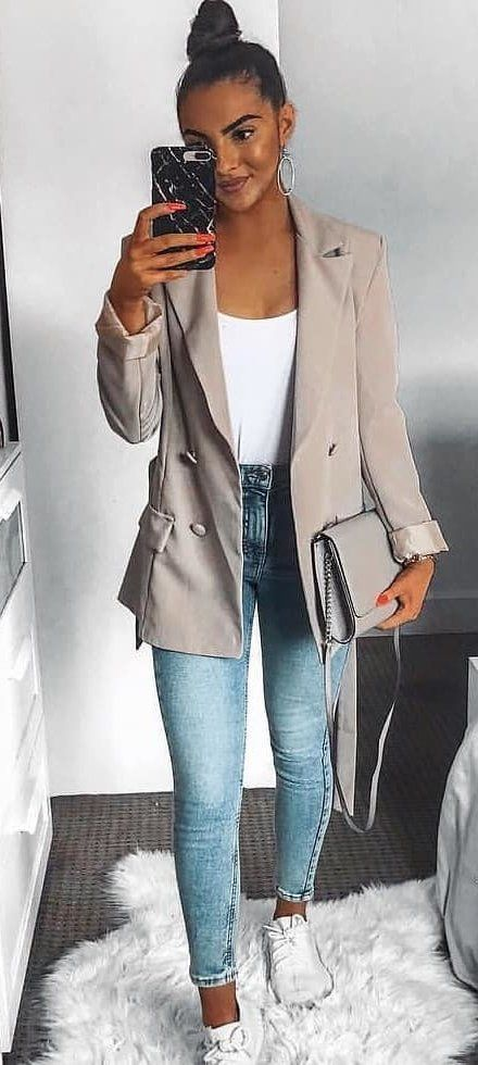 beige blazer #summer #outfits