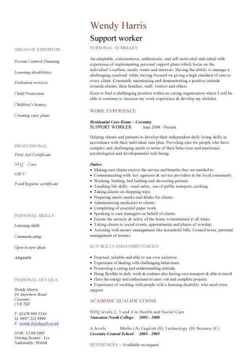 Group Home Worker Sample Resume Stunning Group Home Worker Resume