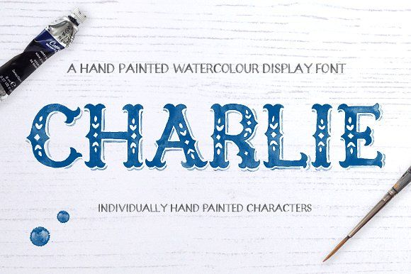 Charlie Watercolour Display Font by Alexandra Snowdon on @creativemarket