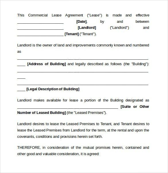 Lease Agreement Samples Lease Agreement Create A Free Rental - sample commercial lease agreement