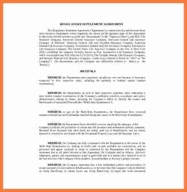Sample Settlement Letter Sample Settlement Letter The Best Letter - settlement agreement template