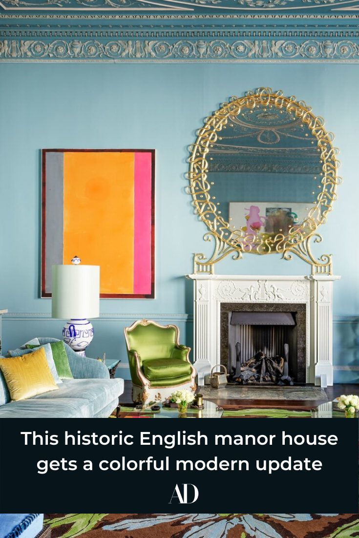 This historic English manor house gets a colorful modern update