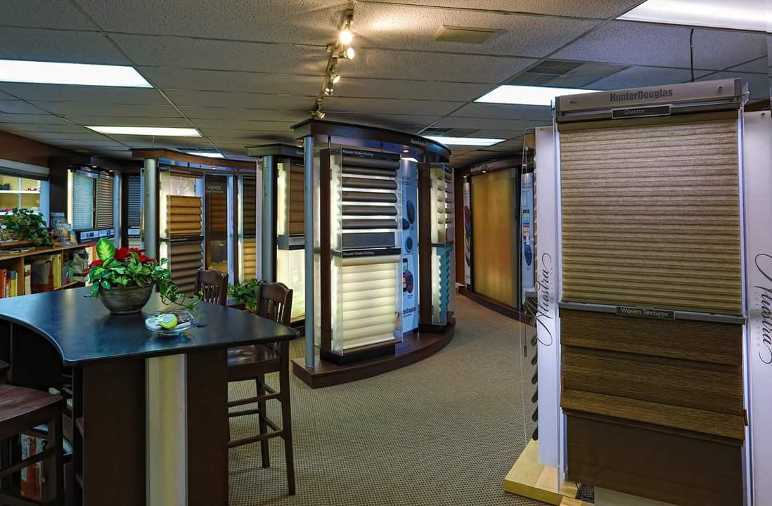 Featuring Hunter Douglas in our beautiful showroom in