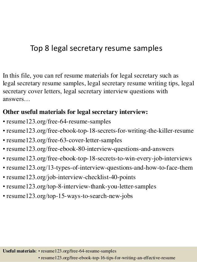 Legal Assistant Resume Sample Legal Resumes Legal Secretary - legal assistant resume