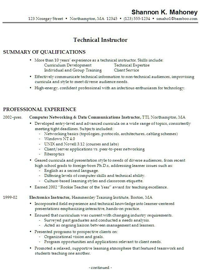 Resume Job Experience Examples Resume Examples Resume Template