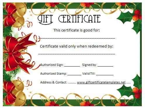 Christmas Certificates Templates Free Printable Christmas Gift - christmas gift vouchers templates