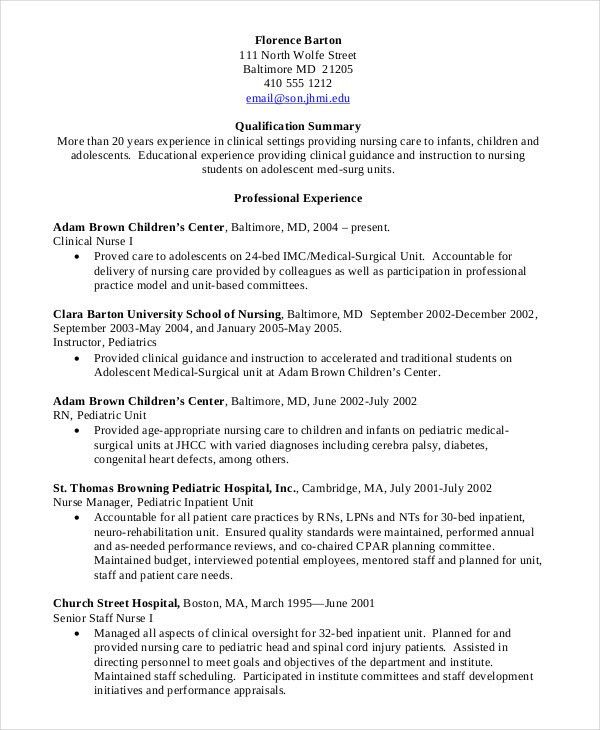 Nursing Student Resume Samples Example Student Nurse Resume Free