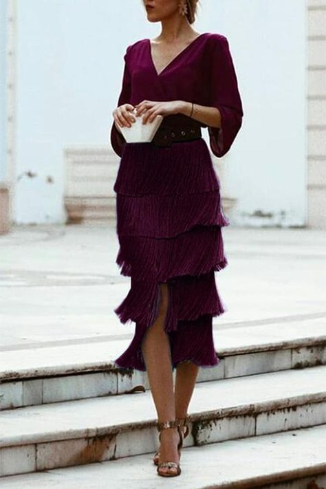 Sexy Backless Tassel Purple Maxi Dress