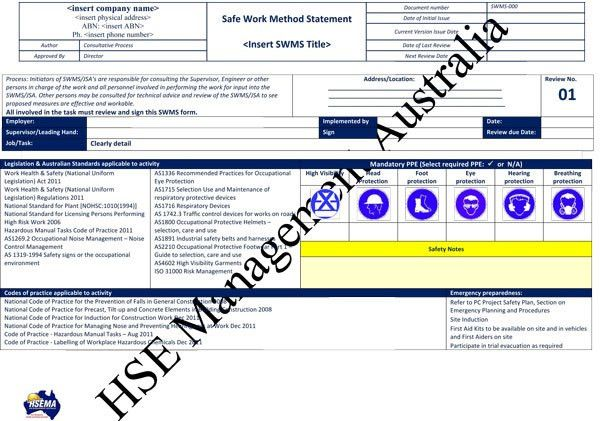 Method Statement Template General Brick And Block Work Method - safety manual template