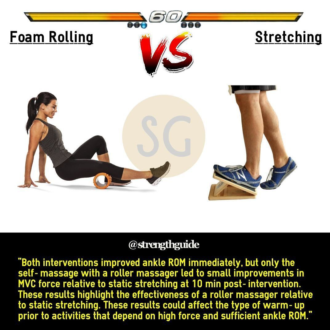 Foam rolling can be performed prior to and after your workouts.