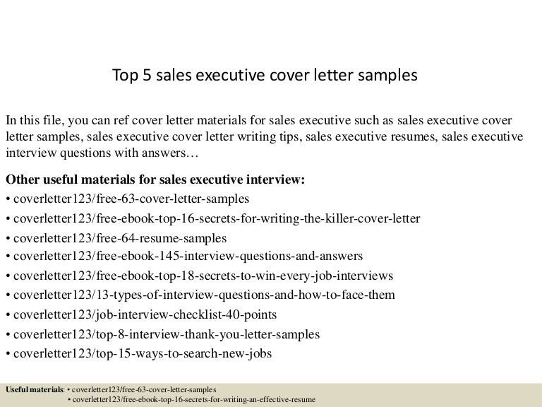 covering letter for sales executive - Amitdhull - executive cover letter