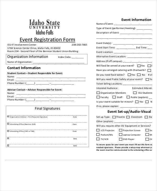 Registration Form Template   9+ Free PDF, Word Documents Download .  Download Registration Form Template