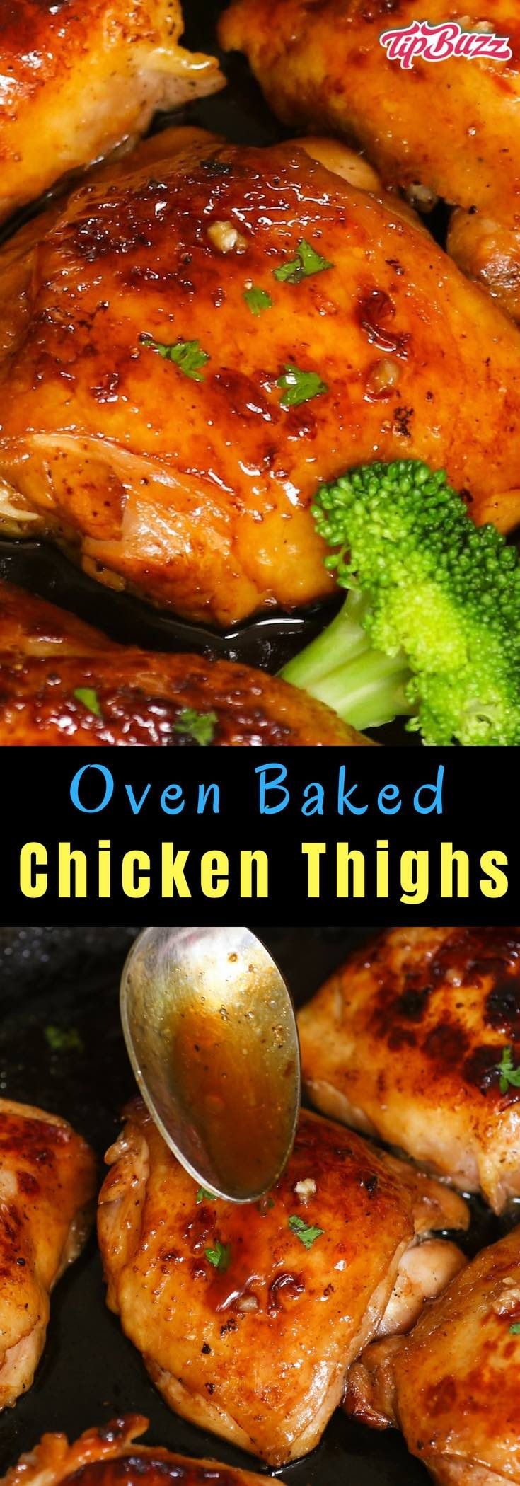 Oven Baked Chicken Thighs {Easy & Crispy!} - TipBuzz
