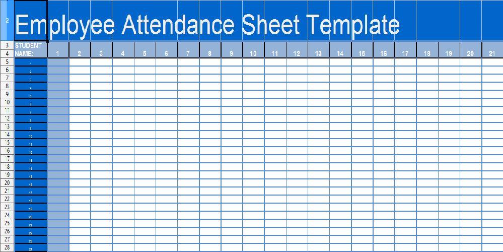 Daily Attendance Template 10 Attendance Sheet Templates Free Word - attendance spreadsheet template excel