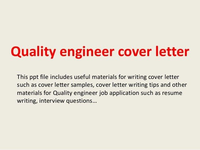 Quality Engineer Cover Letter Quality Engineer Cover Letter - cover letter software engineer