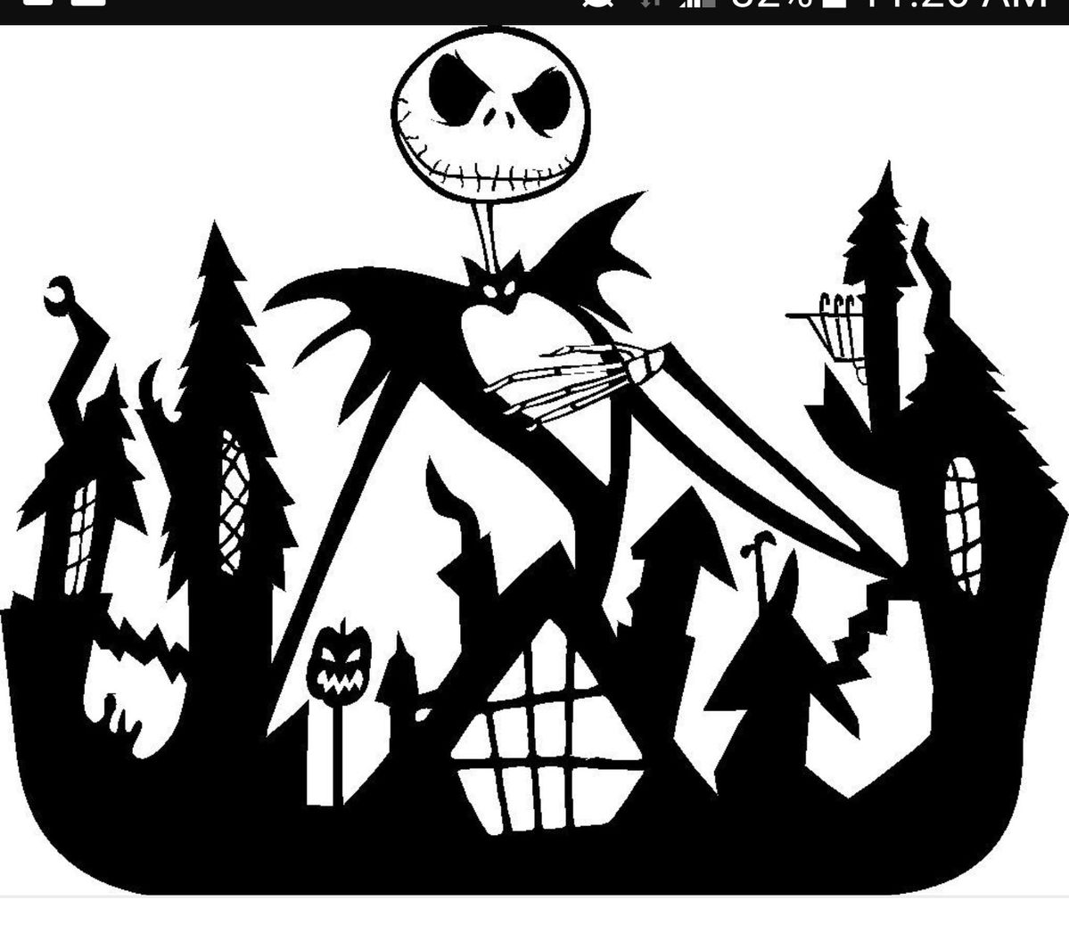 Pin by C.C. Conley on SVG Jack skellington drawing