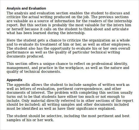 report writing samples