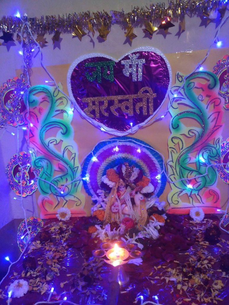 Saraswati Puja Decoration Neon Signs Decor Creation