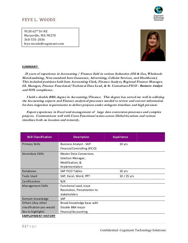 sap fico consultant sample resume sap fico sample resumes sap