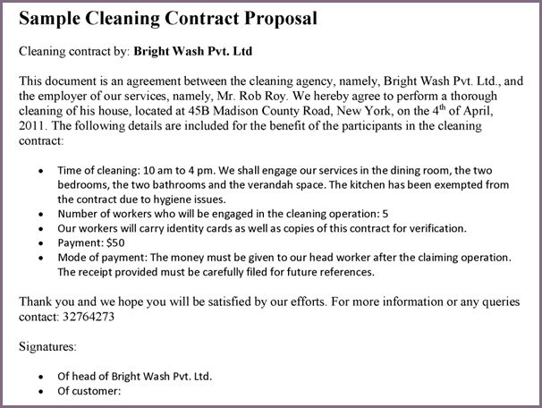 Sample Letter For Cleaning Services Download Cleaner Cover Letter - cleaning proposal letter