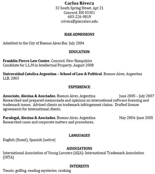 Law School Admissions Resume Sample Law School Admissions Resume - law school application resume sample