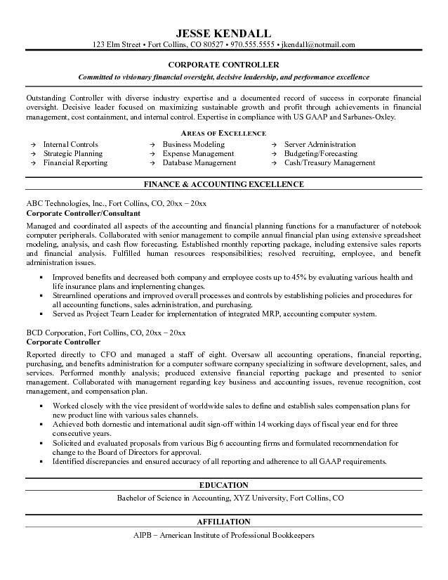 account officer sample resume