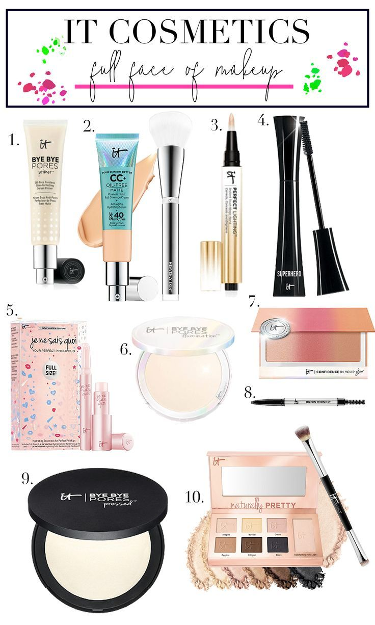 Create a full face of makeup with only It Cosmetics products! The best of the best from It Cosmetics!
