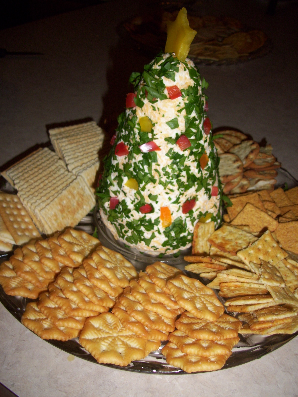 1000 images about appetizers on pinterest cheese ball - Christmas tree shaped appetizers ...