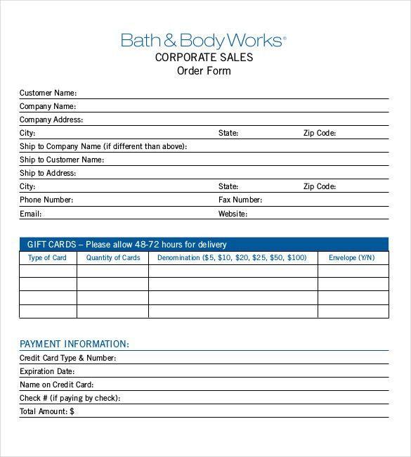 Credit Card Order Form Shanware Pottery Order Form, Credit Card - sample sale order template