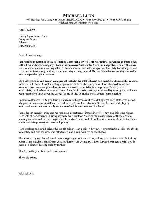 Call Center Analyst Cover Letter Cvresumeunicloudpl